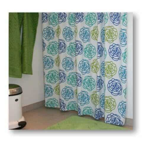Shower curtain bella in blue from Engholm