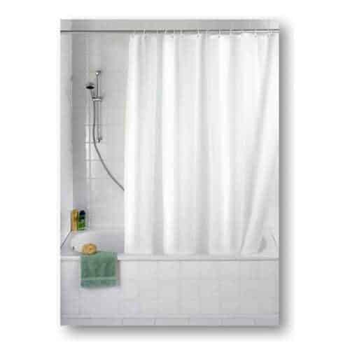 Shower curtain plain in white from Engholm