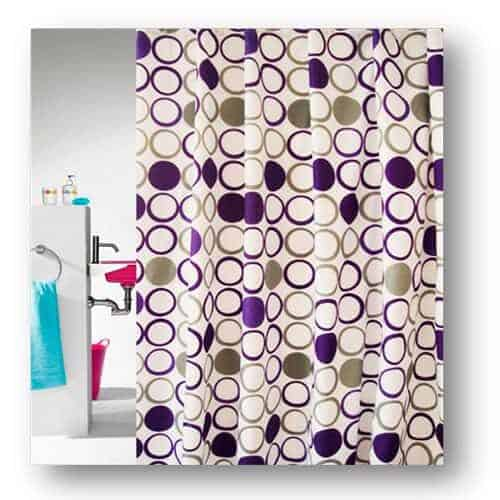 Circle shower curtain from Engholm
