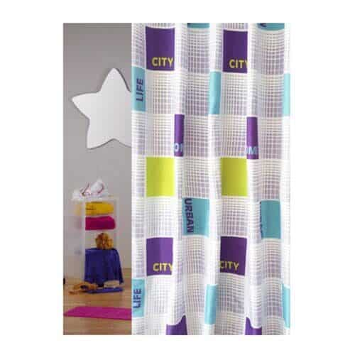 Shower curtain city Stripes from Engholm