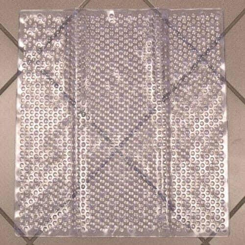 Transparent gummi bademåtte