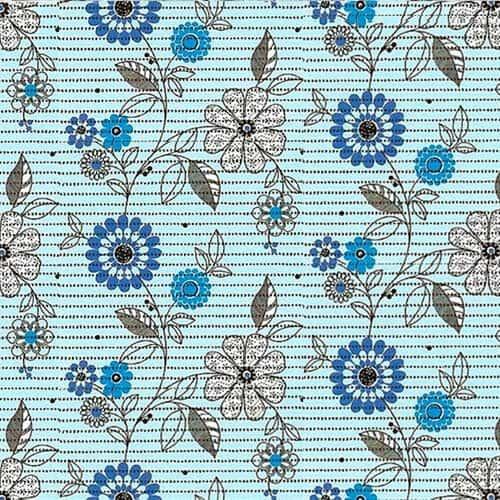 Blomster Aqua Måtte
