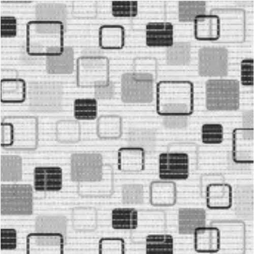 Aqua Måtte med firkanter