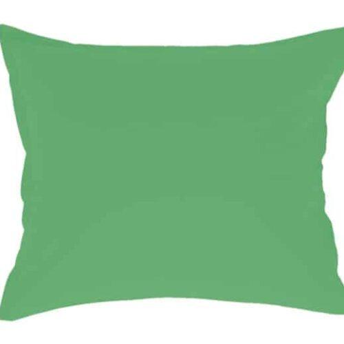 Satin pudebetræk i grøn