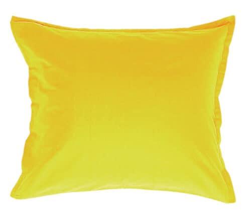 Satin pillowcase in yellow