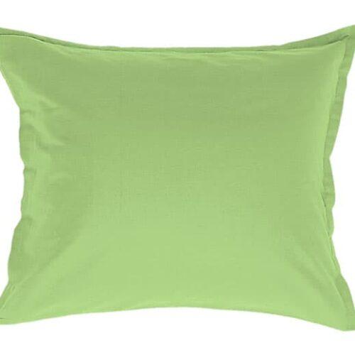 Satin pudebetræk i lys grøn