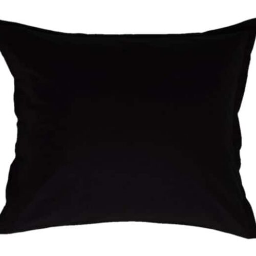 Cotton pillowcase in black