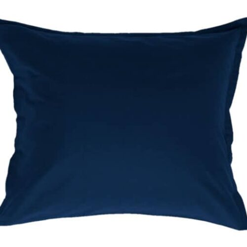 Cotton pillowcase in blue