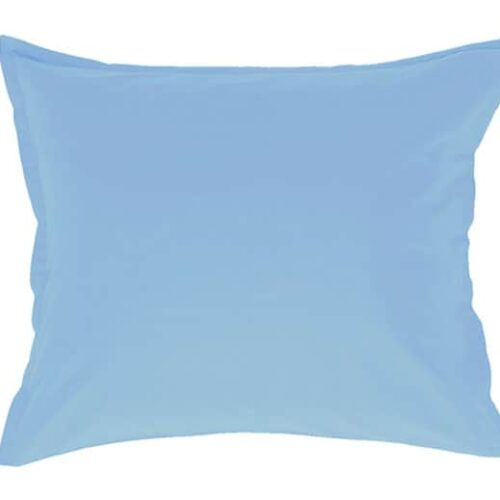 Cotton pillowcase in light blue