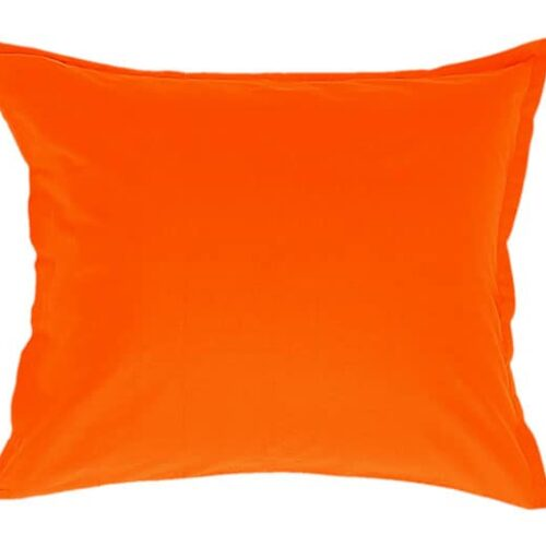 Cotton pillowcase in orange