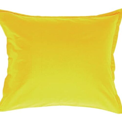 Cotton pillowcase in yellow