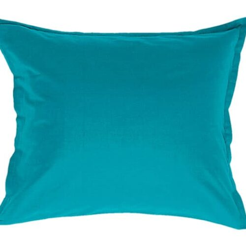 Cotton pillowcase in turquoise