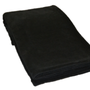 Fleece Plaid fra Engholm i sort