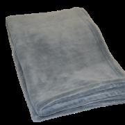 Fleece plaid i farven grå