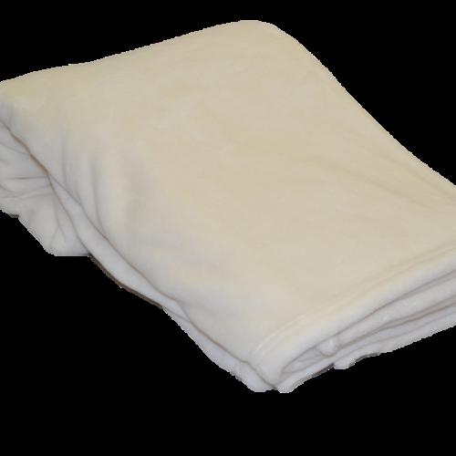 Polar fleece plaid i off white
