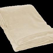 Polar fleece plaid i farven Sand